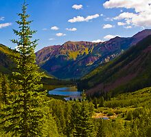 Mountains, Lakes, and Trees by Roschetzky