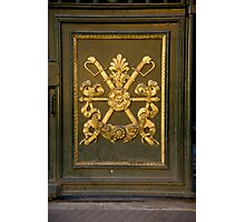 Coat Of Arms Door Photographic Print