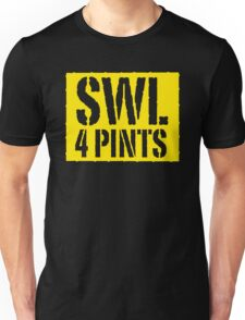 Safe Working Load 4 Pints - Yellow Stencil, Funny Unisex T-Shirt