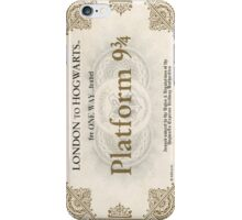 Ticket to the hogwarts express iPhone Case/Skin