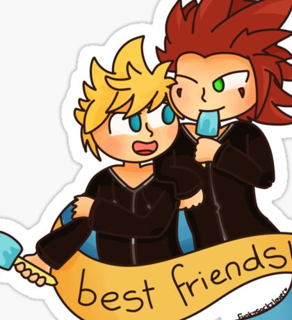 Best Friends - Axel and Roxas Sticker