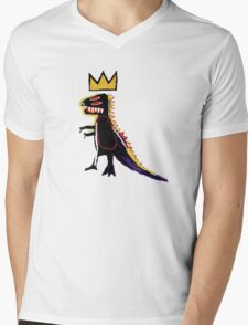 Basquiat Dinosaur Mens V-Neck T-Shirt