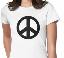 Peace Sign Symbol T-Shirt Womens Fitted T-Shirt