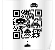 QR invaders  Poster