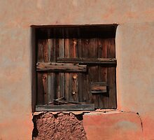Wooden Shutters in Adobe House by Catherine Sherman