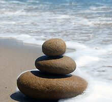 Brown Zen Stone Stack by tom j deters