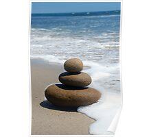 Brown Zen Stone Stack Poster