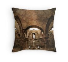 His light shines in the darkest  places... Throw Pillow