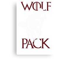 wolfpack shirt new Canvas Print
