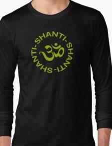 Yoga Shanti Shanti Shanti Om Yoga T-Shirt Long Sleeve T-Shirt