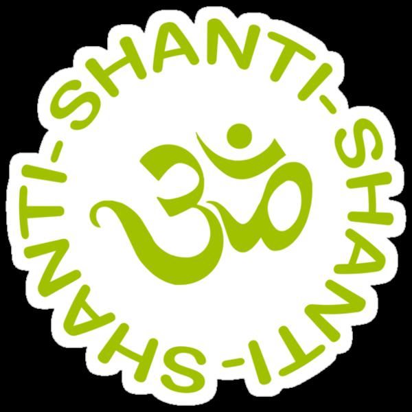 Yoga Shanti Shanti Shanti Om Yoga T-Shirt by T-ShirtsGifts
