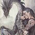 Kor-Gat and Black Dragon by morgansartworld