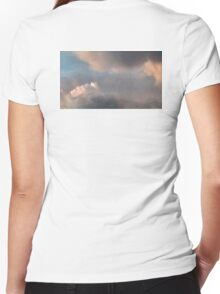 2nd of last evening's cumulus cloud event Women's Fitted V-Neck T-Shirt