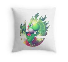 Smash Yoshi Throw Pillow