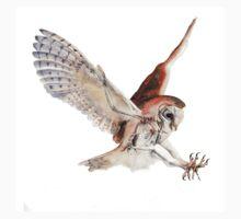Barn Owl in Flight Kids Tee