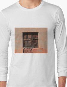 Wooden Shutters in Adobe House Long Sleeve T-Shirt