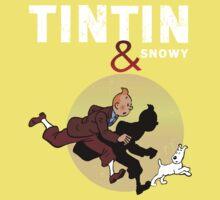 Tintin and Snowy One Piece - Short Sleeve