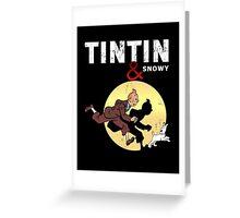 Tintin and Snowy Greeting Card