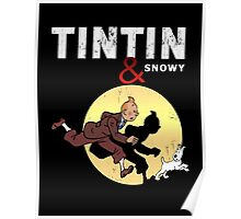 Tintin and Snowy Poster