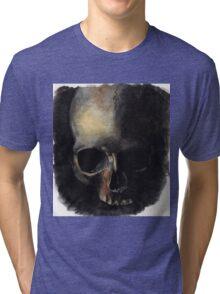 Skull Painting Watercolor Tri-blend T-Shirt