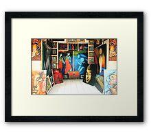 Paintings, Ubud, Bali Framed Print