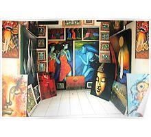 Paintings, Ubud, Bali Poster