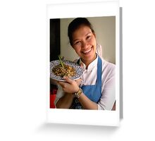 Cooking Scool, Chiang Mai, Thailand Greeting Card