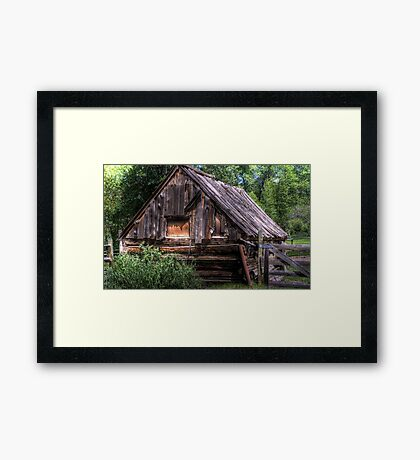 Weathered Shed Framed Print
