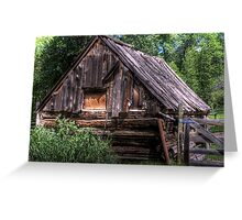 Weathered Shed Greeting Card
