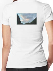 First from last night's sunset - a cumulus study Women's Fitted V-Neck T-Shirt