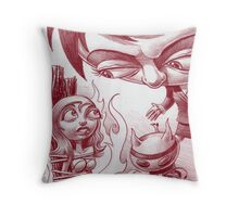 Enemy BBQ Throw Pillow