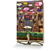 RAINING UMBRELLAS Greeting Card