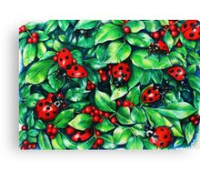 Ladybugs in the Hedge Canvas Print