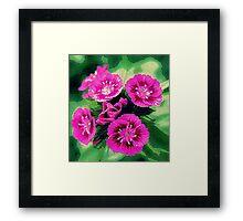 """Pink Flowers"" Digital Art Print  Framed Print"