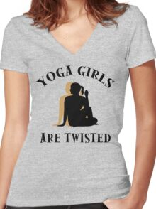 Very Funny Yoga T-Shirt Women's Fitted V-Neck T-Shirt