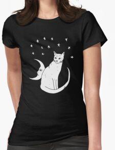 Moon Cat T-Shirt  Womens Fitted T-Shirt