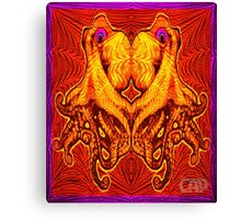 Psychedelic Octopus Optical Illusion Design Canvas Print