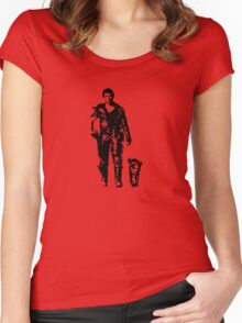 One man and his dog.... Women's Fitted Scoop T-Shirt