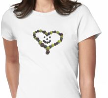 Berry Nice Heart Womens Fitted T-Shirt