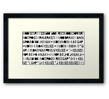 infinity cells Framed Print