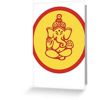 Yoga Ganesh T-Shirt Greeting Card