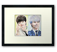 N (Cha Hakyeon) Colored Pencil Drawing Framed Print