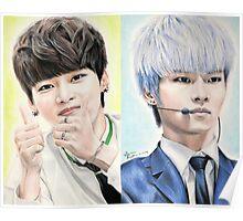 N (Cha Hakyeon) Colored Pencil Drawing Poster
