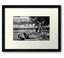 Cyprus Beach Bar Framed Print