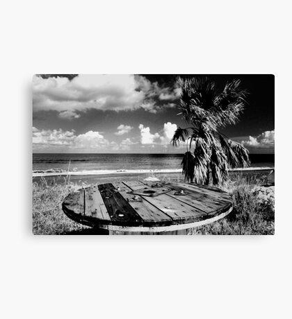 Cyprus Beach Bar Canvas Print