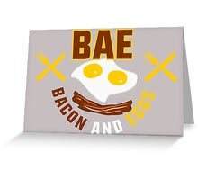 BAE - Bacon And Eggs Greeting Card