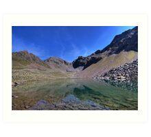 mountain lake with a view Art Print