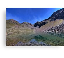 mountain lake with a view Canvas Print