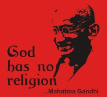 "Gandhi ""God Has No Religion"" T-Shirt Kids Clothes"