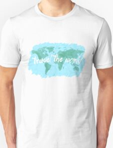 Travel the World watercolor Unisex T-Shirt